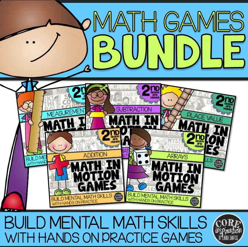 Core Inspiration Second Grade Math In Motion Games Bundle Cover Image