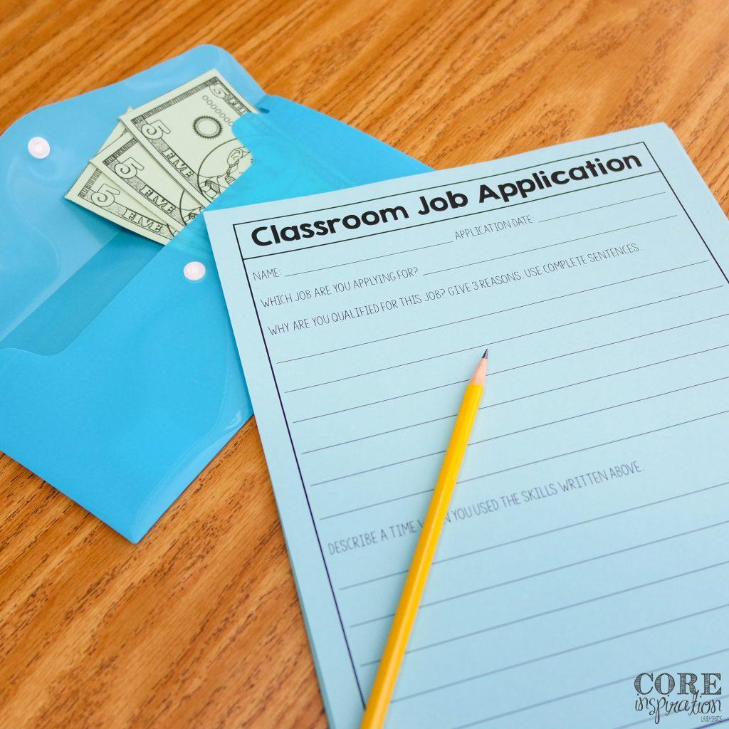 Core Inspiration Classroom Job Application