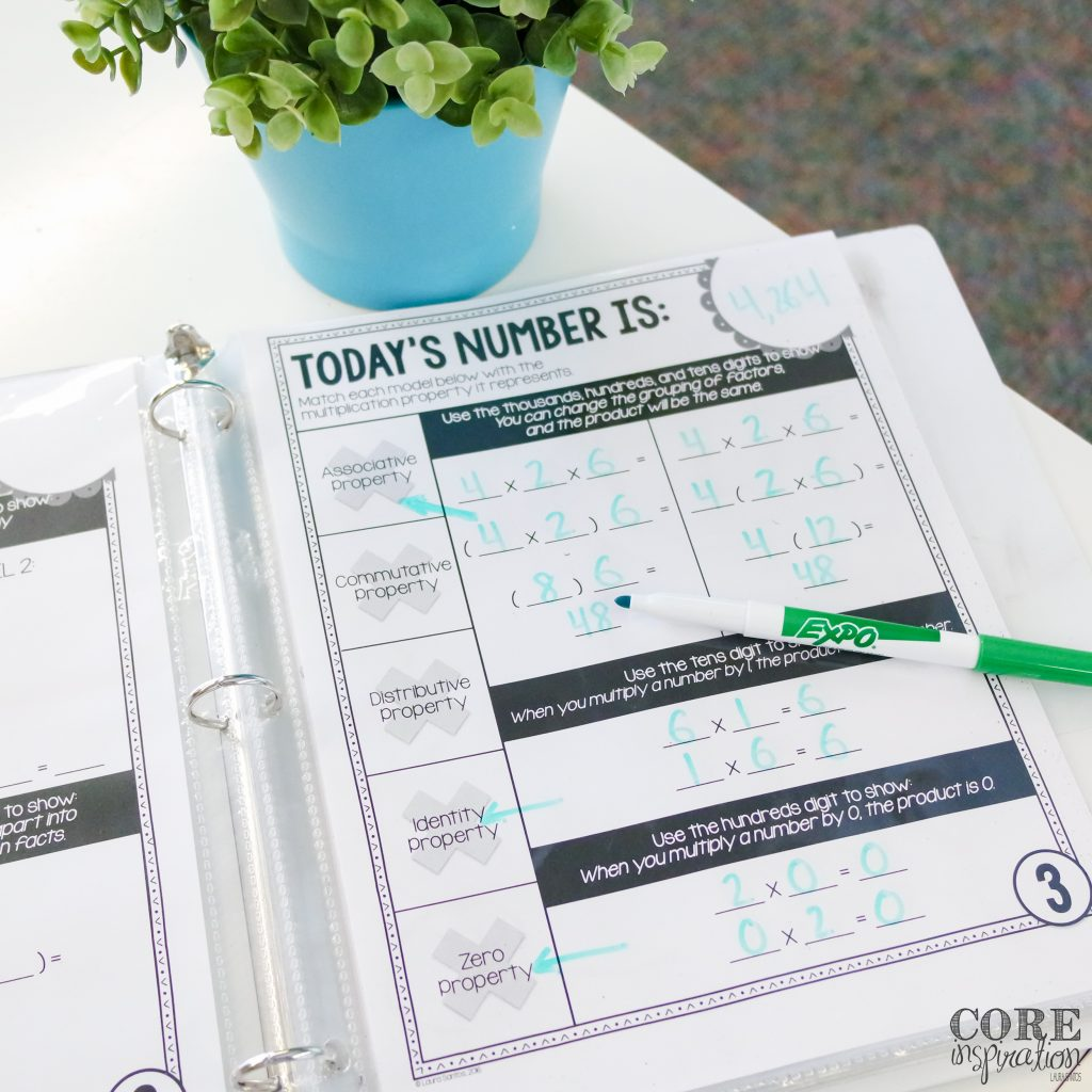 Core Inspiration Number of the Day Binder