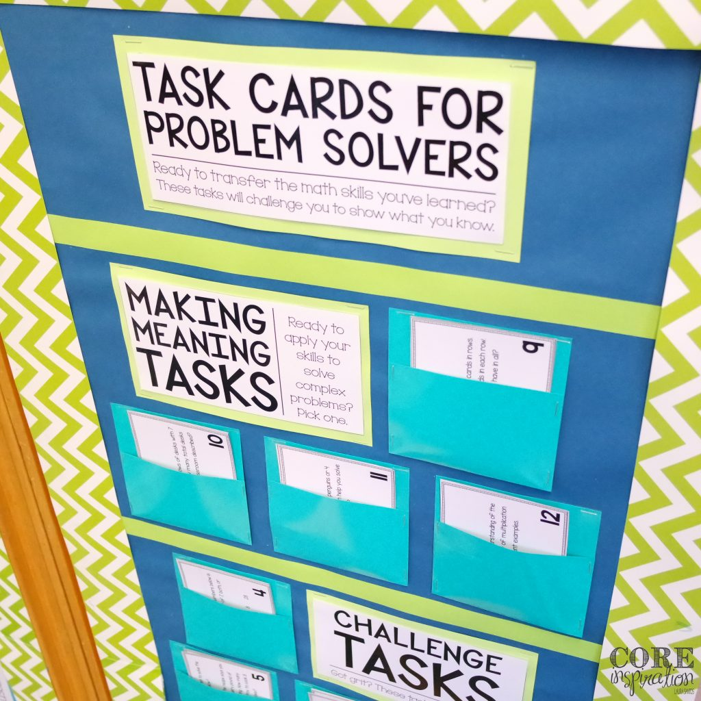 Core Inspiration Math Workshop Overview Task Cards For Problem Solvers