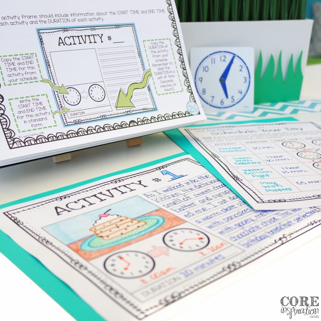 Core Inspiration Telling Time Project Based Learning Unit