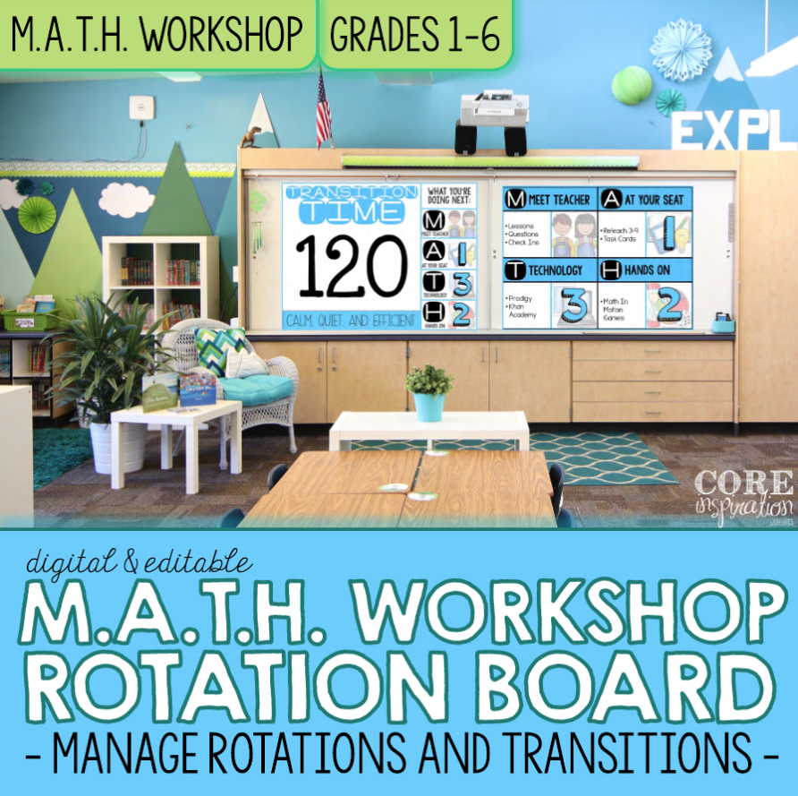Editable M.A.T.H. Workshop Digital Rotation Board Product Cover