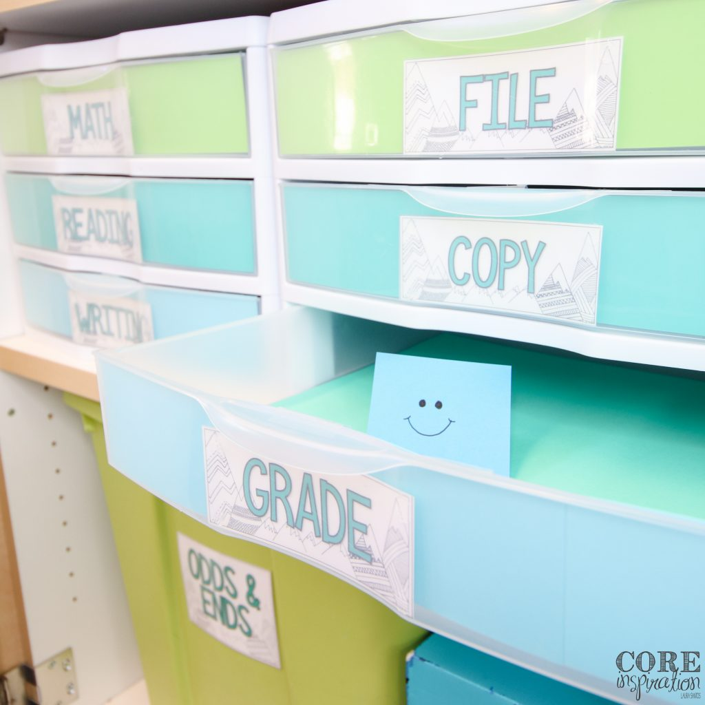 This grading drawer is empty because this teacher uses efficient systems for grading.