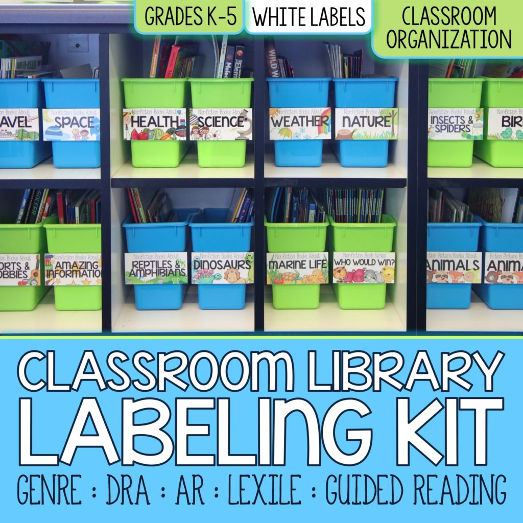Core Inspiration by Laura Santos Classroom Library Labeling Kit