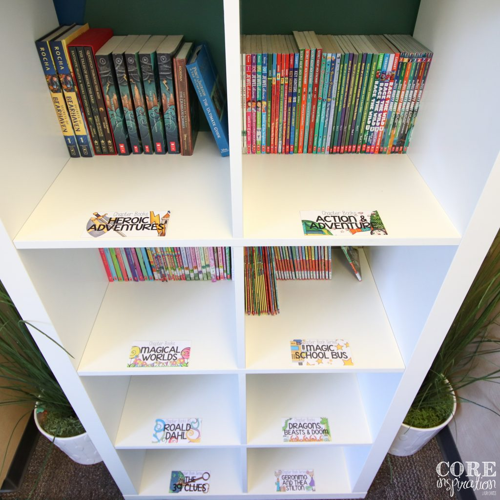 Core Inspiration Third Grade Classroom Library Shelf