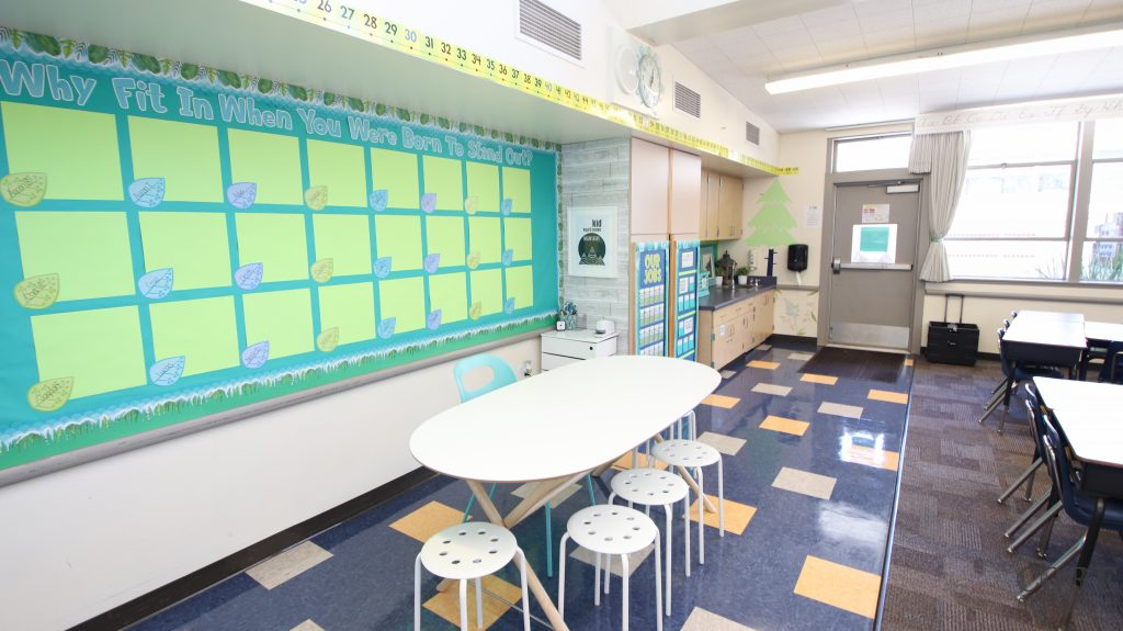 Core inspiration classroom back left corner